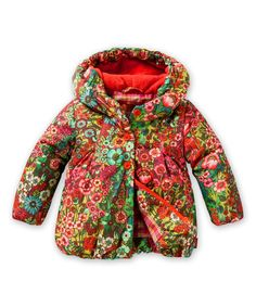 Look what I found on #zulily! Sea of Flowers Chilly Coat - Toddler by Oilily #zulilyfinds
