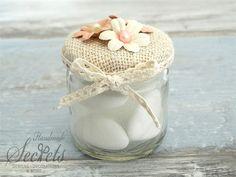 Μπομπονιέρα βαζάκι λουλούδια