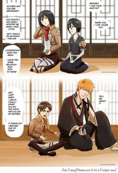 Anime Crossover. I'm not big on Bleach but I couldn't resist pining this ^_^