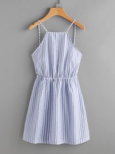 Shop Striped Cut Out Bow Tie Open Back Cami Dress online. SheIn offers Striped Cut Out Bow Tie Open Back Cami Dress & more to fit your fashionable needs. Trendy Dresses, Cute Dresses, Trendy Outfits, Casual Dresses, Cool Outfits, Summer Outfits, Summer Dresses, Long Dresses, Sparkly Dresses