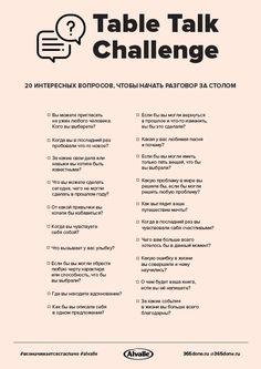 20 интересных вопросов, которые помогут узнать друг друга ближе во время ужина. Список подготовлен совместно с гаспачо Alvalle. – #365done.ru Study Planner, Blog Planner, Good Motivation, Study Motivation, College Life Hacks, New Year New Me, Marketing, Self Development, Talk To Me