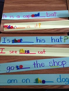 I love this! You could also make it self-correcting by writing possible sight words on the back of each strip!  Sarah's First Grade Snippets: More literacy activities