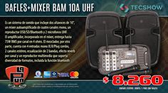 La Púa San Miguel: BAFLES + Mixer + 2 Mic. TECSHOW BAM 10A UHF