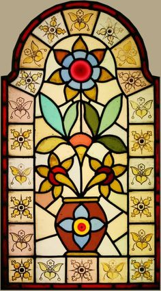 Edwardian domestic stained glass