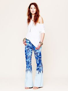 Free People Color Fade Tie Dye Flare