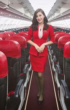 AirAsia stewardess Airline Uniforms, Cute Girl Dresses, Military Girl, Cabin Crew, How To Pose, Flight Attendant, Beautiful Asian Girls, Sexy Hot Girls, Lady In Red