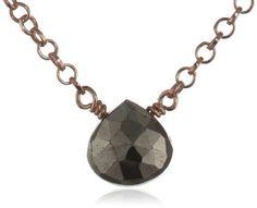 """Amazon.com: Heather Hawkins Tiny Gemstone Necklace, 16"""": Jewelry"""