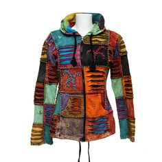 Nepalese Patchwork Torn Hoodie | The Hippy Clothing Co.