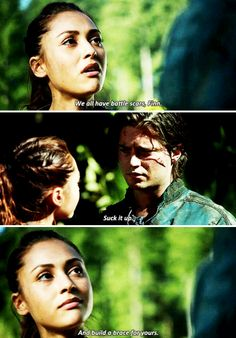 The 100 - Raven and Finn #2.6 #Season2 Raven and her Wit. This is why she's one of my favs #The100