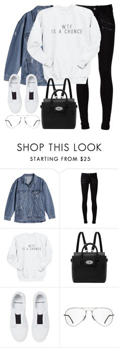"""Untitled #3175"" by elenaday on Polyvore featuring Paige Denim, Mulberry, Pierre Hardy and Ray-Ban"