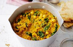 Make this wholesome and hearty dhal dish made with coconut milk, chickpeas and red lentils - the perfect dish to keep away the chill. Find out how to make spinach and chickpea coconut dhal at Tesco Real Food today.