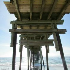 Outer Banks NC Local Artists Facebook post 5/28/15:  For Love of a Pier.  (Not so named as such by photographer.  It had no name on Facebook post.  But I called it that based on their thoughts with photo about piers.)  Photographer credit: Groetsch.