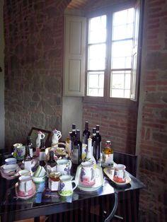 Einkauf: Olivenöl, Wein und Honig - alles Bio - vom Il Palagio sowie nette Accessoires.