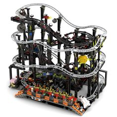 Lego Train Tracks, Lego Trains, Lego Zoo, Mobile Garage, Planet Coaster, Lego Display, Lego Bionicle, Lego Design, Cool Lego