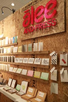 National Stationery Show 2012: Alee and Press   Photo Credit: Oh So Beautiful Paper