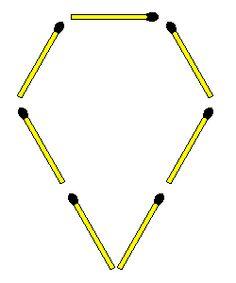 Matchstick Puzzles: Two triangles 11 Plus Exam, Maths Puzzles, Triangles, Montessori, Plastic, Disney, Riddles, Chopsticks, Memory Games