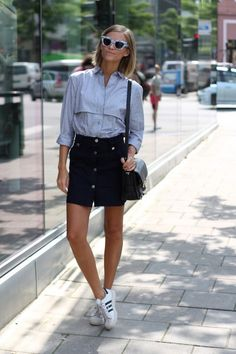 Le-Fashion-Blog-25-Ways-To-Wear-Adidas-Sneakers-Print-Sunglasses-Button-Down-Shirt-A-Line-Skirt-Proenza-Schouler-Superstar-Tine-Andrea-Via-The-Fashion