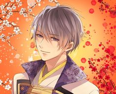 Ishida Mitsunari ~Sculpted by the hands of an Angel❤ Manga Anime, Anime Kimono, Otaku Anime, Anime Art, Moth Drawing, Guy Drawing, Hot Anime Guys, Anime Boys, Shall We Date