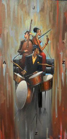'JAZZ' : Frank Morrison. #music #musicart #jazz www.pinterest.com/TheHitman14/music-art-%2B/