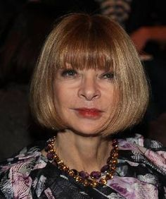 Anna Wintour of Vogue's Classic and Famous Bob    Women Over 50