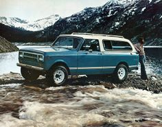 I'll take the car and the guy please.1  980 International Traveler 4X4 SUV     by coconv, via Flickr