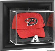 The Arizona Diamondbacks wall mountable logo cap display case is made of 1/8th…