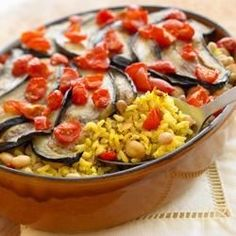 Begin with Uncle Ben's(R) Rice and end up with a delicious vegetarian dish. Skillet browned with eggplant, garbanzo beans, and freshly chopped tomatoes.