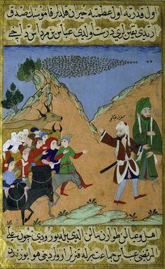 """""""Le miracle des abeilles""""   enluminure (Constantinople, vers 1594-1594) pour le sultan Mourad III. (Erich Lessing/AKG-IMAGES)"""