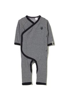 mini ls romper, INDIAN INK/VANILLA STRIPE