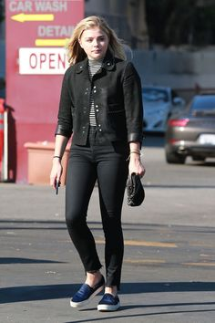 CHLOE MORETZ Goes To a Car Wash in West Hollywood 06/02/2016