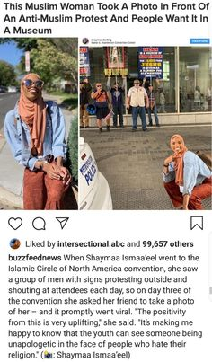 Muslim Woman Takes Pictures in Front of Anti-Muslim Protesters You are in the right place about House Moving pictures Here we offer you the most beautiful pictures about the House Moving you are looki Overwatch, Faith In Humanity Restored, Intersectional Feminism, Equal Rights, Humor, Look At You, Social Issues, Queen, Social Justice
