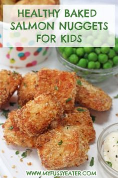 Its not always easy to get kids to eat salmon but I'm going to share today my fool-proof recipe that will have the whole family begging you to make this time and time again! This recipe is also really easy to make. It literally takes 5 minutes to prep the nuggets and just 12 minutes to bake in the oven. #salmonnuggets #foodforkids #fishforkids Cooking With Kids Easy, Easy Meals For Kids, Kids Meals, Toddler Meals, Healthy Baking, Healthy Recipes, Healthy Kids, Healthy Drinks, Fish Recipes For Kids