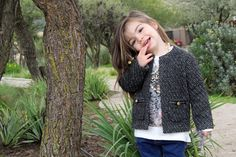 Chanel-Style Jacket | Caroline Anne Pelliccia - Kids' Collection | Model: Isabella Botello | Photographer: Jo Karlson