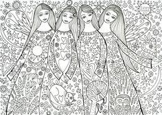 Sister's love - Un'immagine da colorare  - by Tiziana Rinaldi Art - #arttherapy #coloring