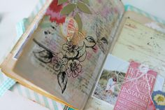 Zoom4 Art journal decorated page