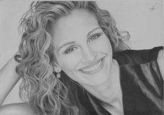 Julia Roberts Drawing by Jeroen88  | First pinned to Celebrity Art board here... http://www.pinterest.com/fairbanksgrafix/celebrity-art/ #Drawing #Art #CelebrityArt