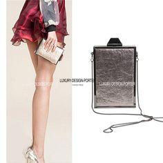 Designer Perfume shape Hard CASE Ladies Party bag Chain Shoulder Bag Purse Handbag Box Clutch
