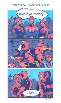 Comics Spideypool y Stony Marvel Jokes, Marvel Dc Comics, Marvel Funny, Marvel Art, Marvel Heroes, Marvel Avengers, Deadpool X Spiderman, Spideypool Comic, Superfamily Avengers