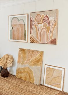 Tour the airy Newcastle home of Indigenous artist Lauren Freestone. Decorated with neutral tones and furnished with natural wood, this sprawling home is warm and inviting. Diy Canvas, Canvas Wall Art, Abstract Pattern, Abstract Art, Indigenous Art, Aboriginal Art, Dot Painting, Diy Art, Watercolor Art