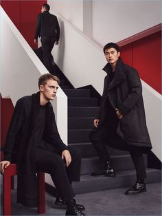 Models Victor Nylander and Zhao Lei star in a style editorial for Zara Man, featuring its Chinese New Year special collection.