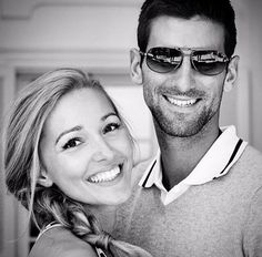 Novak Djokovic & Jelena Ristic// i love them !!!! Look at them, they're perfect