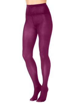 2 pack opaque footed tights by Comfort Choice®   Plus Size Hosiery & Socks   Woman Within
