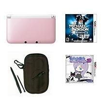 3DS XL Pink/White with Michael Jackson Experience & Gabrielle's Ghostly Groove