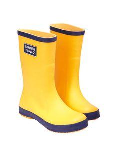 Children's Wellies by JoJo Maman Bébé at Gilt Yellow Rain Boots, Girls Rain Boots, Girls Shoes, Boy Fashion, Womens Fashion, Nautical Looks, Hunter Boots, Rubber Rain Boots