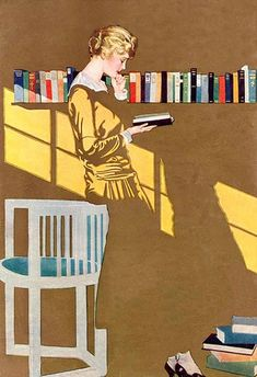 Book collages by C. Coles Phillips