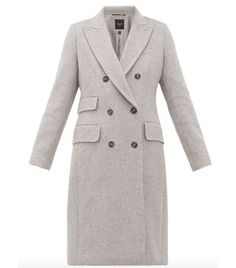 Weekend Max Mara Laringe Coat In Grey Max Mara, Capsule Wardrobe, Best Travel Clothes, Fast Fashion, Who What Wear, Coats For Women, Double Breasted, Women Wear, How To Wear