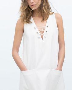 ZARA - WOMAN - TIE-NECK DRESS