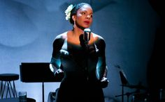 """This photo provided by Jeffrey Richards Associates shows Audra McDonald as Billie Holiday in """"Lady Day at Emerson's Bar & Grill Tony Award, Musical Theatre Broadway, Theatre Plays, Tony Winners, Lady Sings The Blues, Theatre Reviews, Angela Lansbury, Billie Holiday, Sing To Me"""