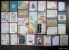 homemade embellishments with Kesiart papers DIY 3x4 cards