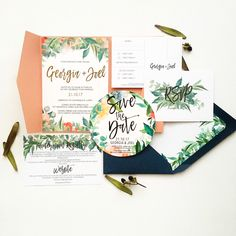 Watercolour Stationery Edit   HOORAY! Mag   Floral Invitation   Danger and Moon  